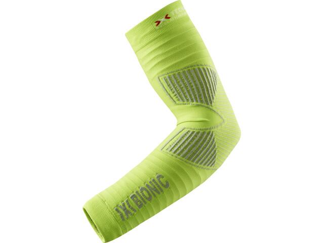 X-Bionic Effektor Biking Arm Warmers Green Lime/Pearl Grey